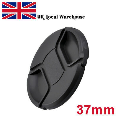 Lens Cap Cover Centre Pinch for Canon Nikon Sony Olympus Lenses with 37mm Thread