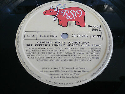 """Sgt Pepper´s Lonely Heart Club Band Movie Soundtrack 1978 - Lp Vinilo 12"""" Vg"""