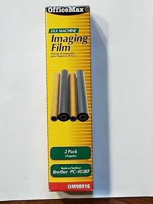 2 Pack Fax Machine Imaging Film Replaces Brother PC-402RF New Office Max