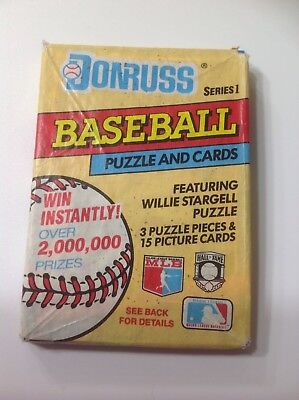 1991 DONRUSS Baseball Cards 1 factory sealed wax pack