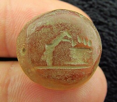Interesting VIKING - NORSE Stone Amulet / Seal  c. 900 AD (+251)