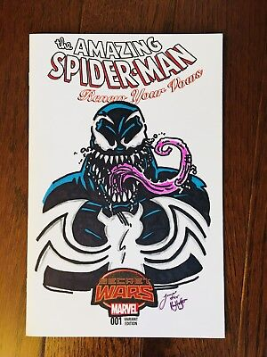 Venom Ken Haeser Tribute Drawn And Signed By James Fugate
