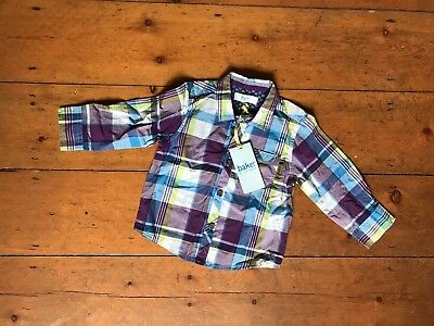 Gorgeous TED BAKER Baby Boy Check Shirt - 12-18 Months - Unworn With Tags