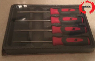 Snap On 4 piece mini tip instinct screwdriver set in Red