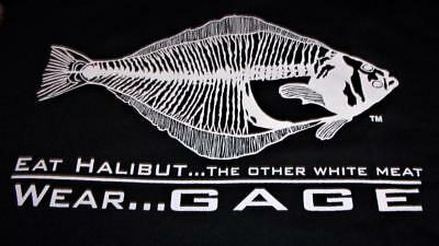 New Grundens EAT HALIBUT the Other White Meat Fishing Shirt Size 3XL /_/_/_/_/_S01