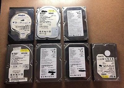 Lot of 7 IDE Hard Drives HDD ranging from 40-120 GB