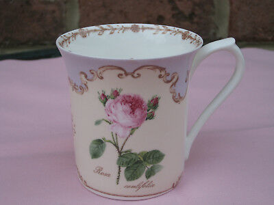 Fine Bone China Coffee Mug Tea Cup The Royal Horticultural Society Queens Roses