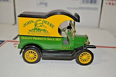 Gearbox John Deere Ford Model T Coin Bank and Gas Pump ~ 1/25 Scale No Box Loose