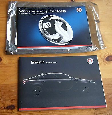 Rare Vauxhall Insignia Launch Set 2009 Models Edition 1 + Price Guide & Letter