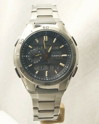 Casio WVA-M650TD-1A2ER Waveceptor Titanium Tough Solar Multi-Band Watch RRP£250