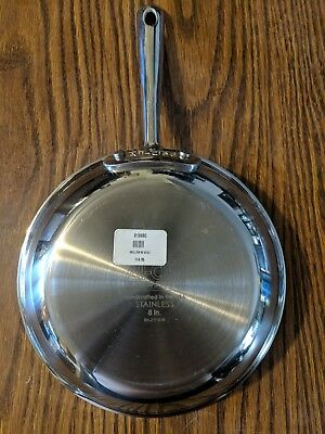 "All Clad  8"" Stainless Steel Skillet Saute Fry Pan Anodized"