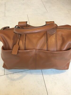 Jem and Bea Jemima Changing Nappy Bag In Tan Leather