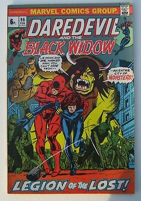 Marvel Comic Group Daredevil and the Black Widow Comic
