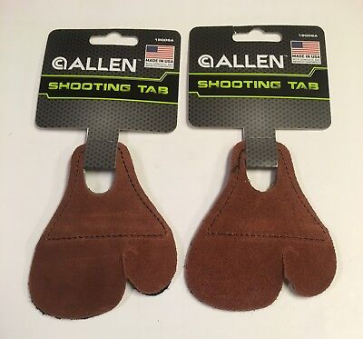 Lot of 2  New ALLEN Archery Leather Shooting Tab Finger Protectors # 15009A