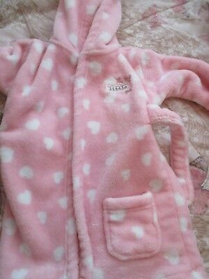 Baby Girls 6-9 Months Dressing Gown. New