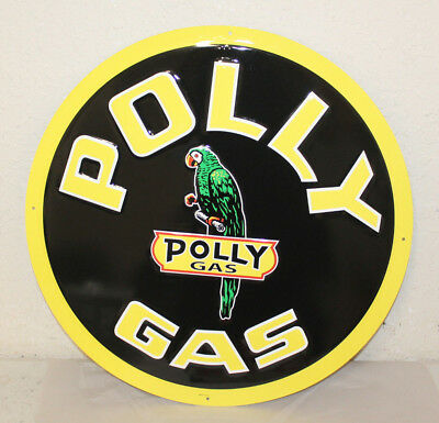 """Large Vintage Style 24"""" Polly Gas Station Signs Man Cave Garage Decor"""