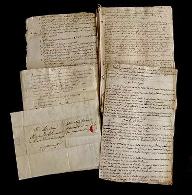 LOT OF FIVE documents 1700-1800s