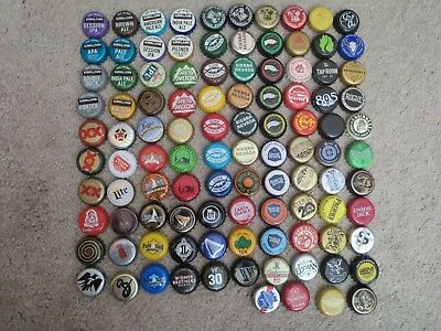 104 Different Beer Bottle Caps Lot - For Crafts, Crafting, Projects