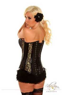 7eb1c088563 Daisy Corset Plus Size 5X Gold Buckled Brocade Steel Boned Corset New Top  Drawer