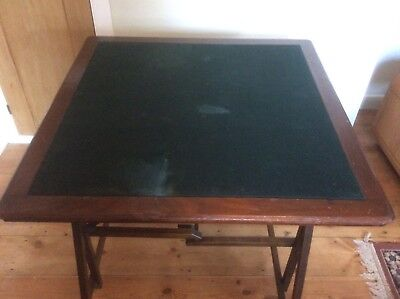 Rare antique Edwardian ca 1910 Cajac campaign card table with patent mechanism