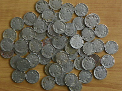 Buffalo Nickels  1915 to 1929 S  73 coins Part and full dates (No 30's)