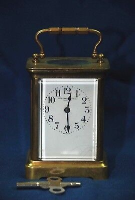 "19th C. French Carriage Clock Duverdrey & Bloquel 5.5"" Smith Patterson Boston"