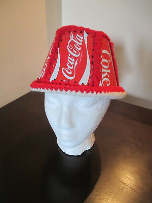 RARE Coca Cola Coke Can Hat Cap Made With Pop Cans Soda Art