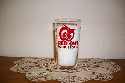 Vintage Red Owl Foor Store Measuring Glass