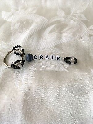 CRAIG men or boys personalized keychain-NEW-hand made