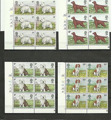 Great Britain 1979 Dogs CYL Block MNH