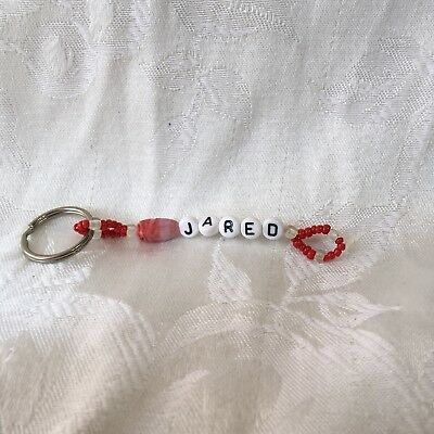 JARED personalized mens or boys keychain-NEW-handmade