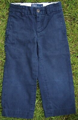 Polo Ralph Lauren Navy Boys Chino Jeans Elastic Adjustable Waist Age 18 Months