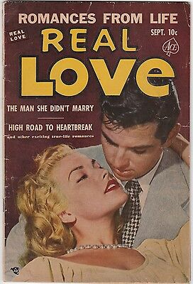 Mrj/ Real Love #50 Sept 1952 Ace Comics Romances From Life Scarce Vg