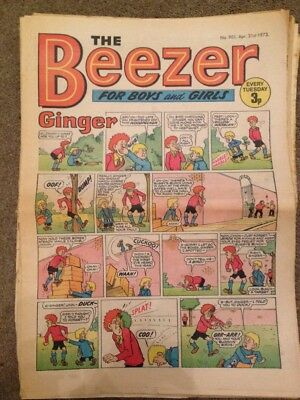 The Beezer Comic April 1973