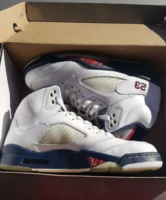 bd4d8a94782d21 Air Jordan 5 V Retro Size 10 Independence Day 136027-103 Excellent Condition
