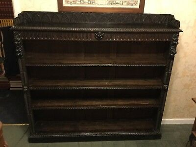 Antique 19th C carved bookcase