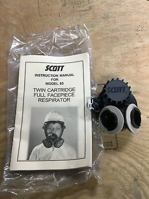 Scott Twin Cartridge Quarter Turn Adapter Model 65 Full Facepiece Respirator NEW