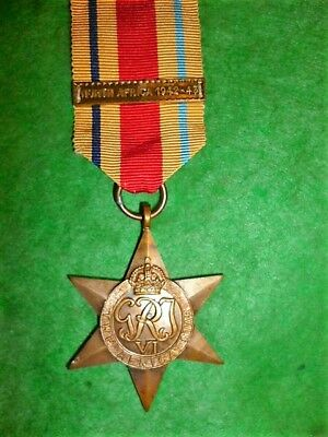 The Africa Star Medal WW2 with North Africa 1942-43 Clasp - Genuine