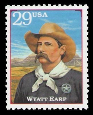 Wyatt Earp O.K. Corral 22 Year Old Mint Vintage US Postage Stamp from 1994