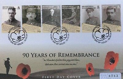 Commemorative Cover - World War 1. Mercury 90 Years of Remembrance. 1. 10. 2008