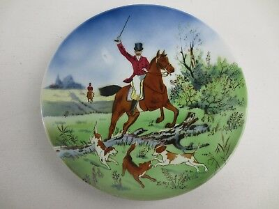 Fox Hunt Picture on a Plate Made in Germany