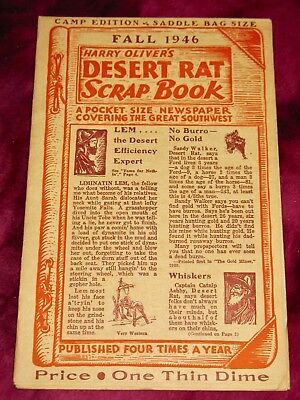 VINTAGE Harry Oliver's DESERT RAT SCRAP BOOK FALL 1946 - VERY RARE - 1st ISSUE!