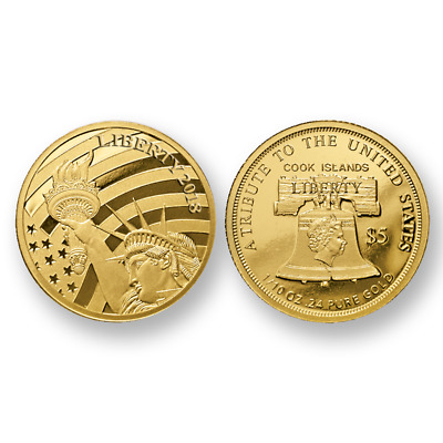 First strike 2018 Five Dollar Liberty Gold .24 Fine Pure Gold One ten-ounce Coin