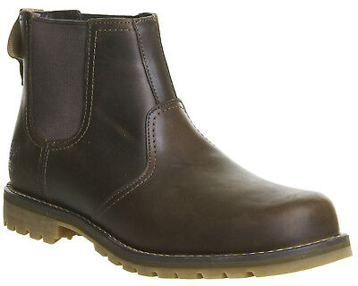 Mens Timberland Brown Leather Pull On Ankle Boots Size UK 8 *Ex-Display
