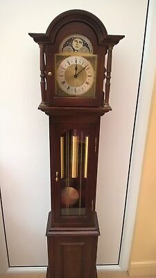 "Grandmother clock, 62"" tall, moon phase, 3 weights, German FHS movement"