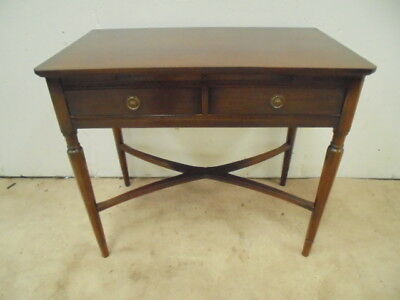 Antique Victorian?  Writing Desk Mahogany 2 DRAWERED  Table  Desk FLUTED LEGS