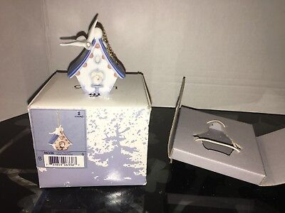 Lladro Ornament / Home Sweet Home Birdhouse # 6336 with Box