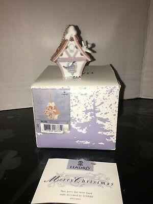 Lladro Ornament #6335 - Welcome Home Birdhouse - Christmas Holiday Tree Bird