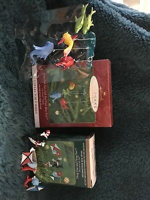 Hallmark Ornaments Dr Suess One Fish Two Fish Red Fish... & Thing One Thing Two