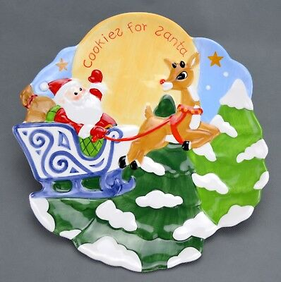 "2002 Lenox Rudolph The Red Nosed Reindeer Cookies For Santa Plate 10"" New"